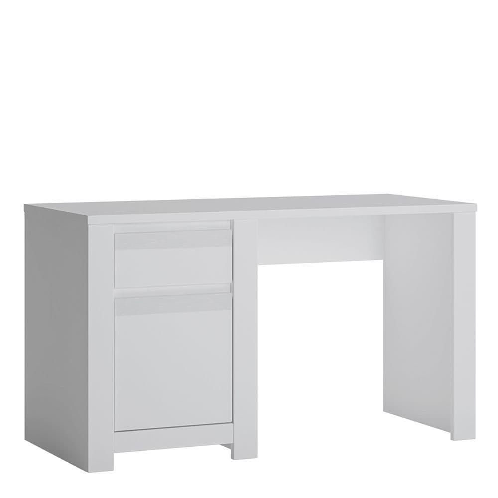 Alita 1 Door 1 Drawer Desk in Alpine White